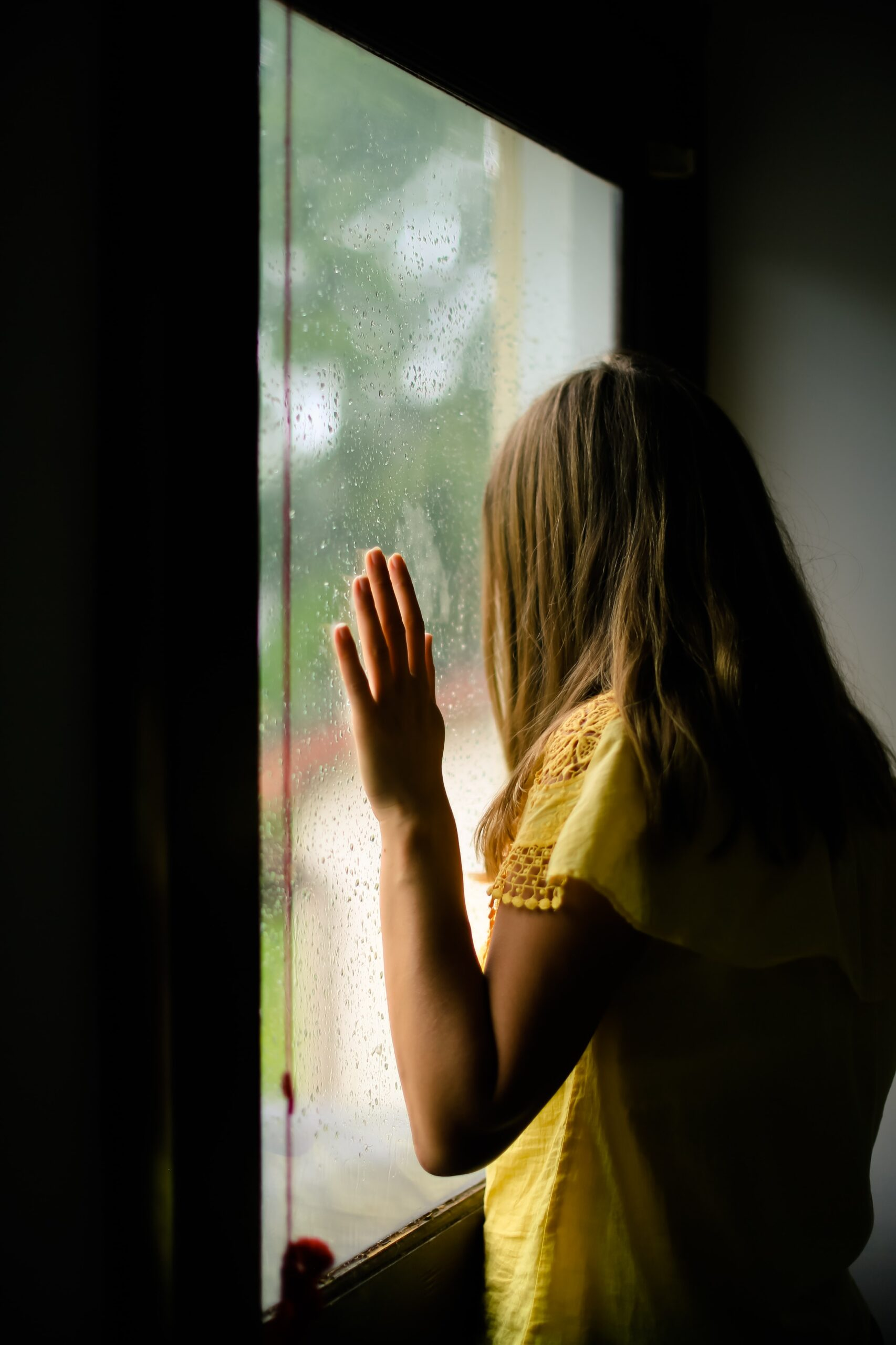 Girl at window deep yearnings of the heart