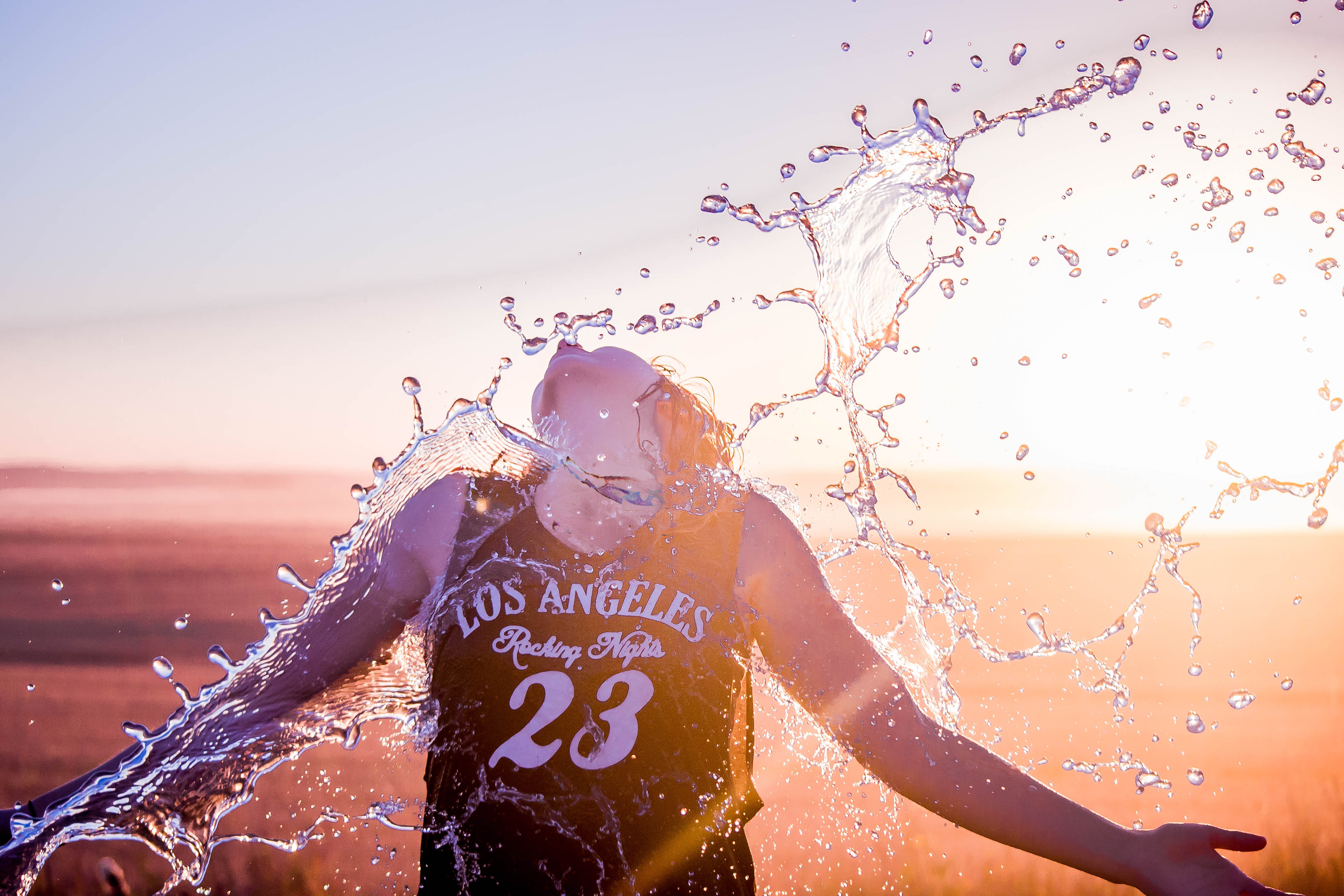Woman in water splash Christianity Lets You Renew