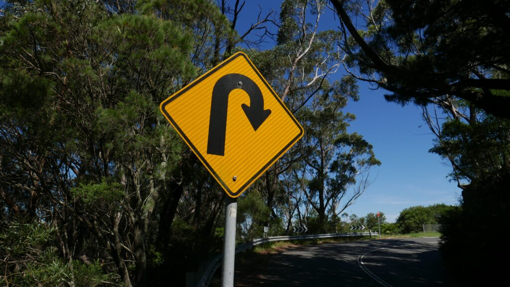 U-turn sign life renewing power in Biblical repentance